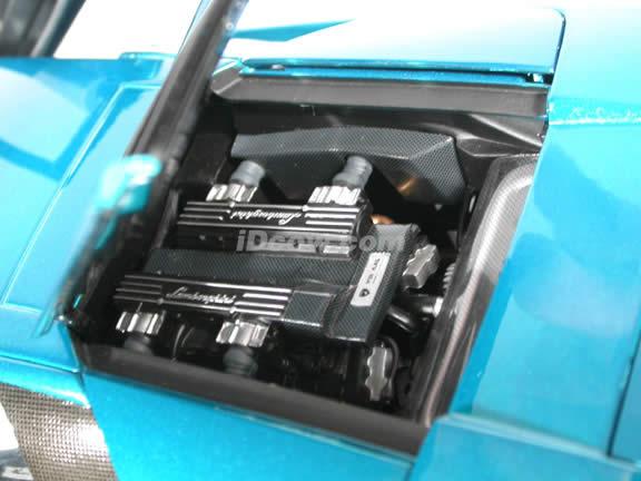 2003 Lamborghini Murcielago 40th Anniversary diecast model car 1:18 scale die cast by AUTOart - Blue