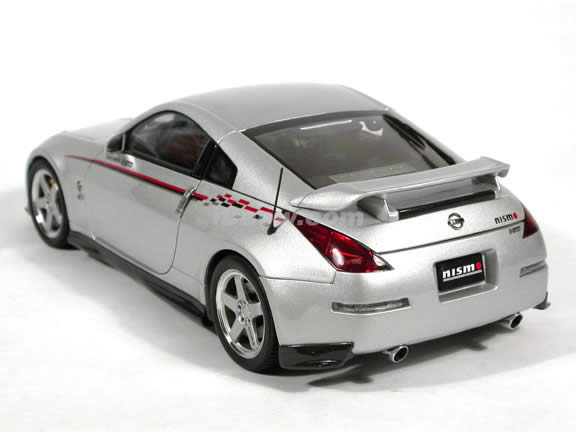 2002 Nissan Fairlady Z (350Z) Nismo S-Tune diecast model car 1:18 scale die cast by AUTOart - Silver