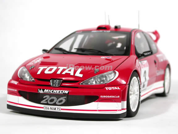 2003 Peugeot 206 WRC #2 diecast model car 1:18 scale die cast by AUTOart