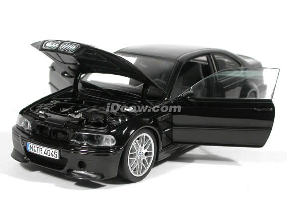 2003 BMW M3 CSL diecast model car 1:18 scale die cast by AUTOart - Black