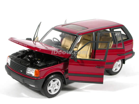 1999 Land Rover Range Rover 4.6 HSE diecast model car 1:18 scale die cast by AUTOart - Red RHD