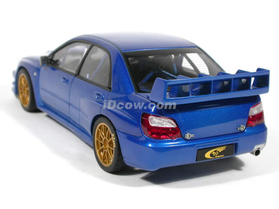2003 Subaru Impreza WRC diecast model car 1:18 scale die cast by AUTOart - Blue