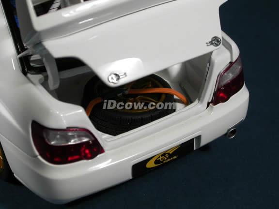 2003 Subaru Impreza WRC diecast model car 1:18 scale die cast by AUTOart - White