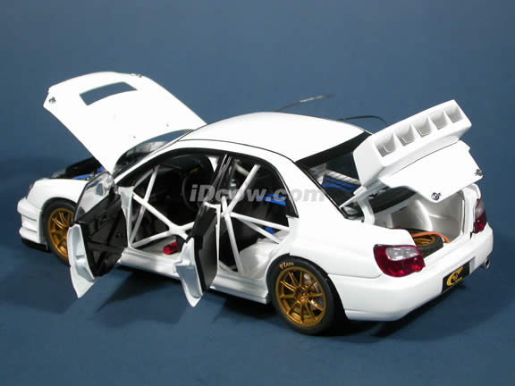 2003 Subaru Impreza WRC diecast model car 1:18 scale die cast by AUTOart - White