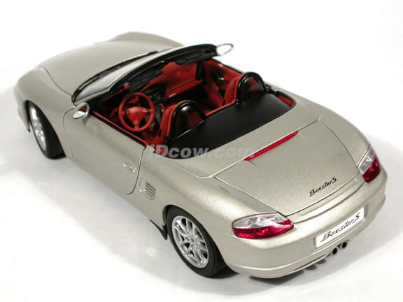 2004 Porsche Boxster S diecast model car 1:18 scale die cast by AUTOart - Silver