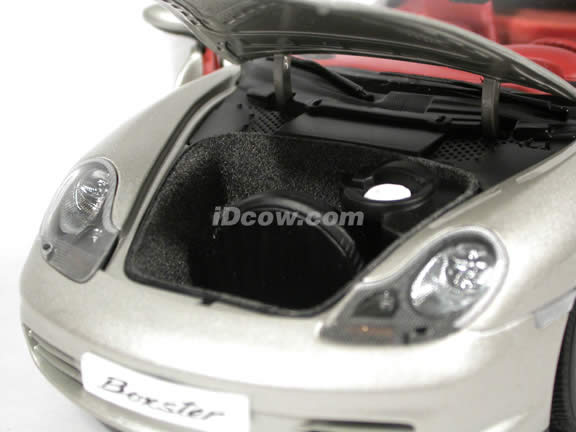 2004 Porsche Boxster diecast model car 1:18 scale die cast by AUTOart - Silver
