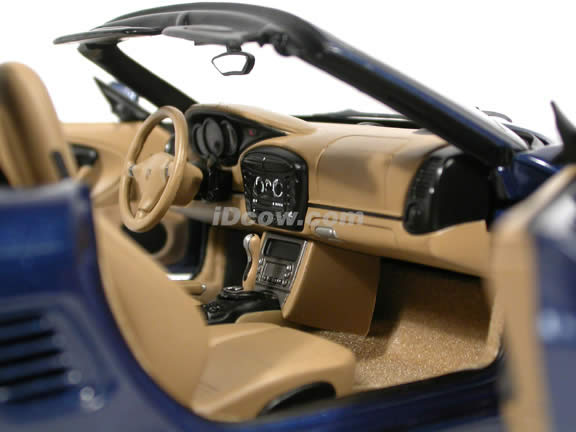 2004 Porsche Boxster S diecast model car 1:18 scale die cast by AUTOart - Lapis Blue