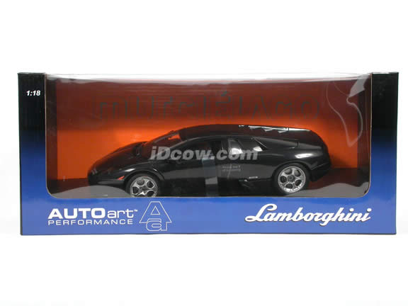 2002 Lamborghini Murcielago diecast model car 1:18 scale die cast by AUTOart - Black