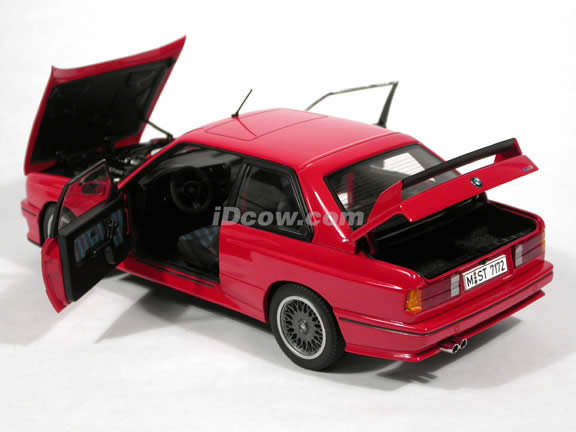 1990 BMW M3 diecast model car 1:18 scale Sport Evolution by AUTOart - Red