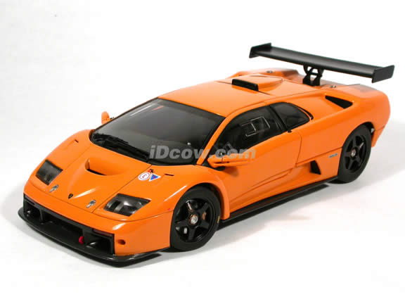 2000 Lamborghini Diablo GTR diecast model car 1:18 scale die cast by AUTOart - Orange