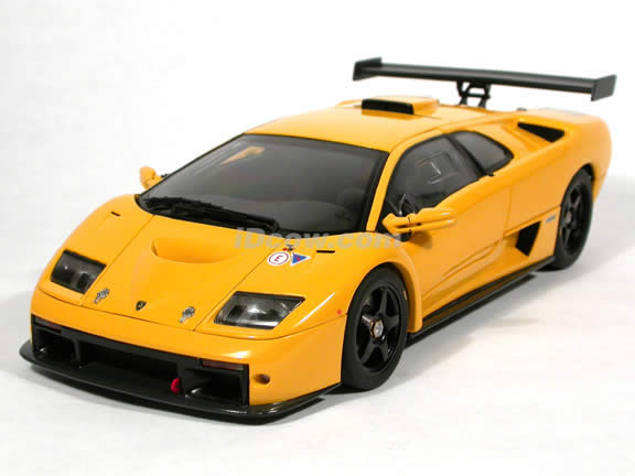 2000 Lamborghini Diablo Gtr Diecast Model Car 1 18 Scale Die Cast By