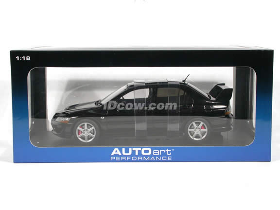 2005 Mitsubishi Lancer Evolution VIII diecast model car 1:18 scale die cast by AUTOart - Black (RHD)