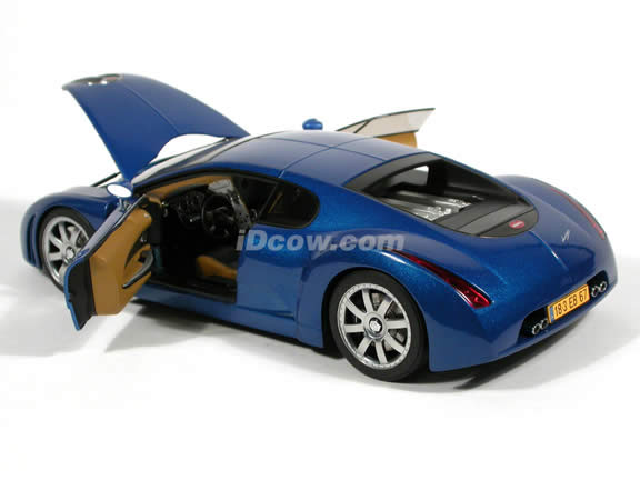 1999 Bugatti EB 18.3 Chiron diecast model car 1:18 scale die cast by AUTOart - Blue Limited Production