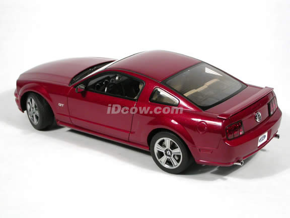 2005 Ford Mustang GT diecast model car 1:18 scale die cast by AUTOart - Red Fire Limited 1 of 3000