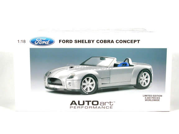 2004 Shelby Cobra Concept diecast model car 1:18 scale die cast by AUTOart - Dark Silver