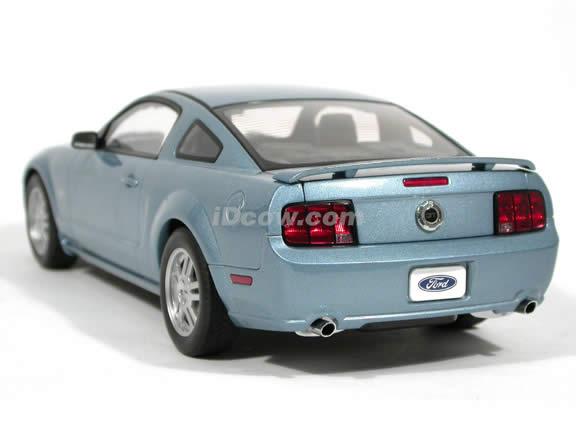 2005 Ford Mustang GT diecast model car 1:18 scale die cast by AUTOart - Windveil Blue 1 of 6000