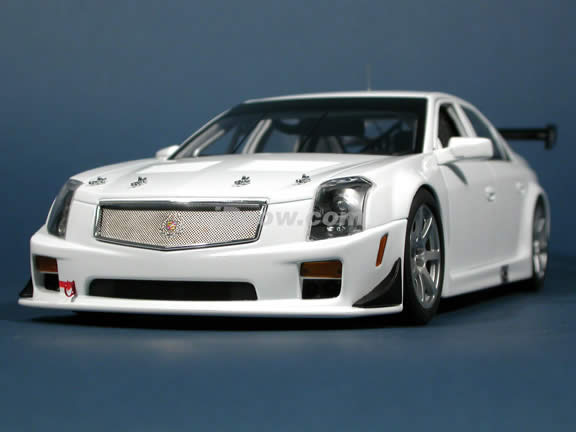 2004 Cadillac CTS-V SCCA World Challenge GT diecast model car 1:18 scale die cast by AUTOart - Plain Body White