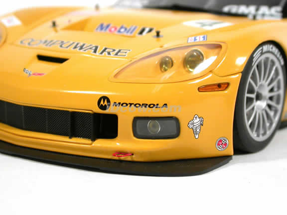 2005 Chevrolet Corvette C6R #4 diecast model car 1:18 scale Laguna SECA Winner by AUTOart - 80550