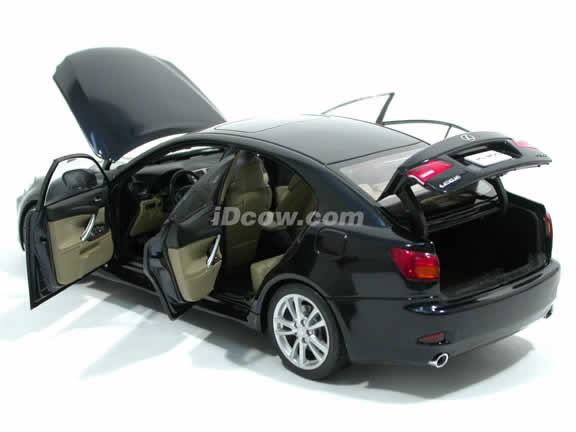 2006 Lexus IS 350 diecast model car 1:18 scale die cast by AUTOart - Dark Blue 78811