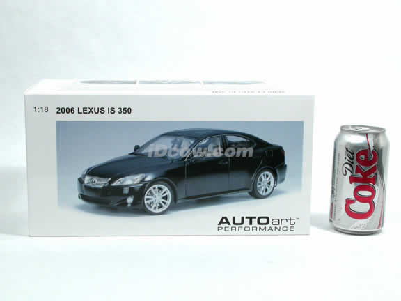 2006 Lexus IS 350 diecast model car 1:18 scale die cast by AUTOart - Black 78812