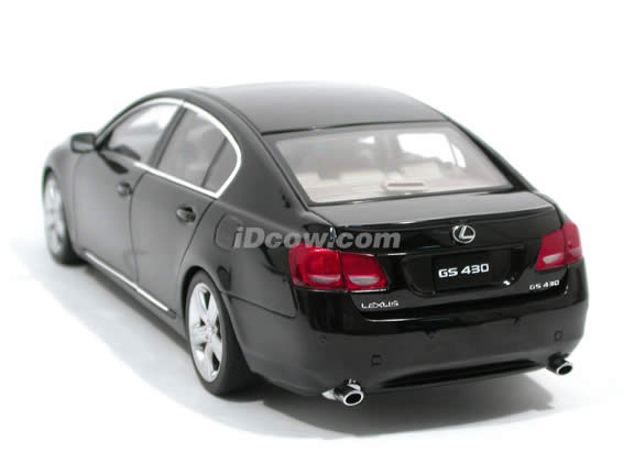 2006 Lexus GS430 diecast model car 1:18 scale die cast by AUTOart - Black 78802