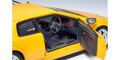 2004 Lotus Esprit diecast model car 1:18 scale V8 by AUTOart - Yellow 75313