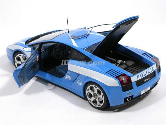 2004 Lamborghini Gallardo Police Car diecast model car 1:18 scale by AUTOart - 74576