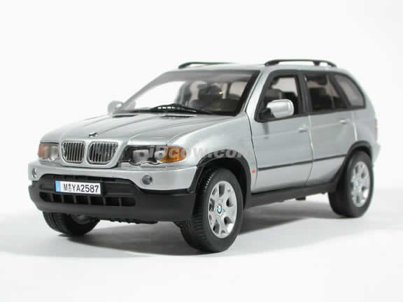 BMW X5 4.4i diecast model car 1:18 die cast by Anson - Silver