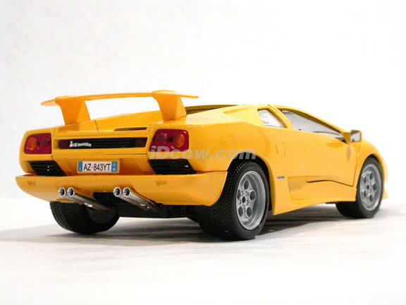 1994 Lamborghini Diablo diecast model car 1:18 scale die cast by Bburago - Yellow 12042