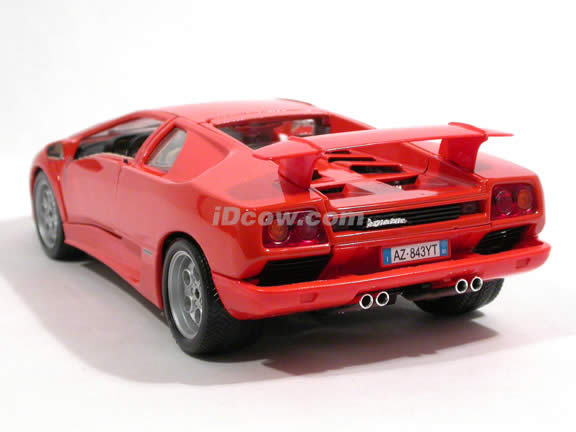 1994 Lamborghini Diablo diecast model car 1:18 scale die cast by Bburago - Orange 12042