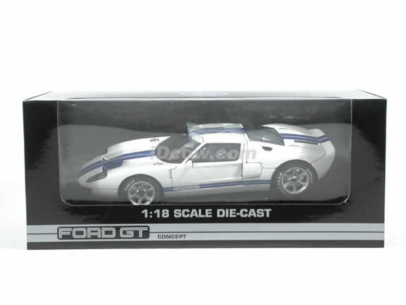 2004 Ford GT Concept diecast model car 1:18 die cast by Beanstalk Group - White