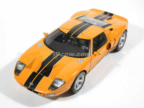 2004 Ford GT Concept diecast model car 1:18 die cast by Beanstalk Group - Yellow