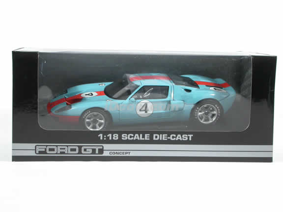 2004 Ford GT Concept diecast model car 1:18 die cast by Beanstalk Group - Gulf Blue