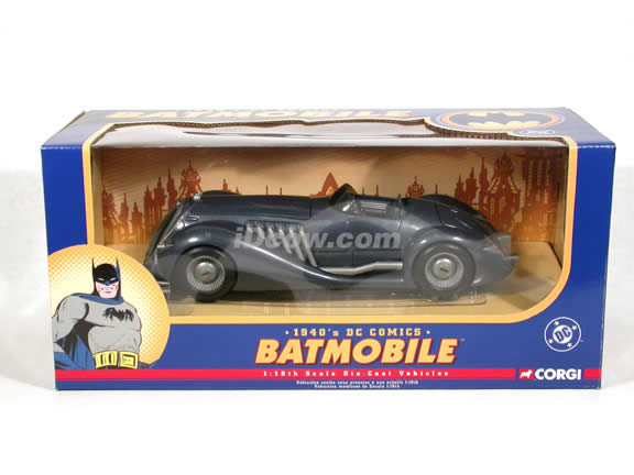 1940 DC Comics Batmobile diecast model car 1:18 scale die cast by Corgi