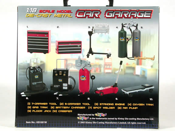 1:18 Scale Diecast Garage Accessories