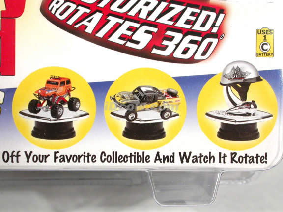 Rotating Display Stand for 1:43 scale Cars and 1:12 scale Motorcycles from Toy Zone