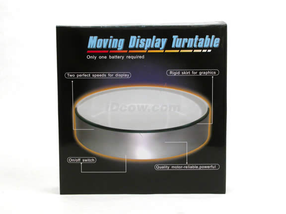 Mirror Top Moving Display Turntable - Battery Powered GI-1002L