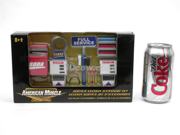 Service Station Accessory Set for 1:18 scale diecast model cars - 32172