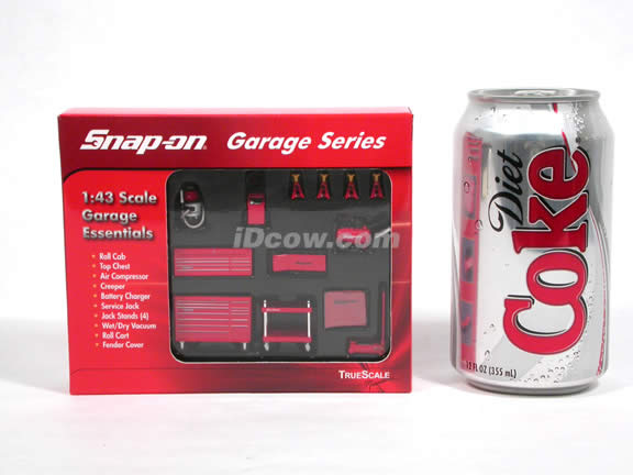 Snap On Garage Series diecast accessory set 1:43 scale by TrueScale Miniatures - 07002