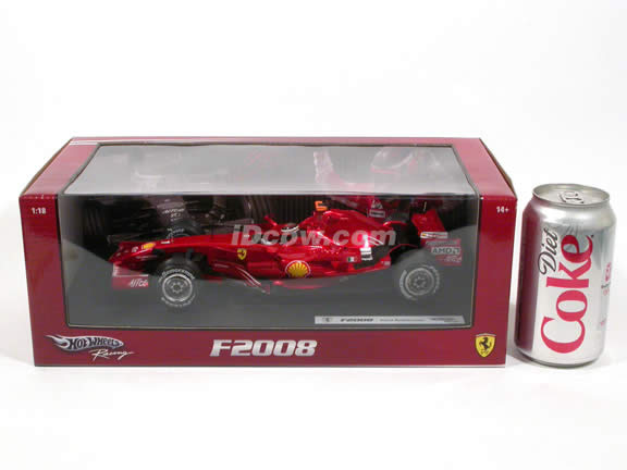 2008 Ferrari Formula One F1 diecast model car 1:18 scale #1 Kimi Raikkonen by Hot Wheels - L8781