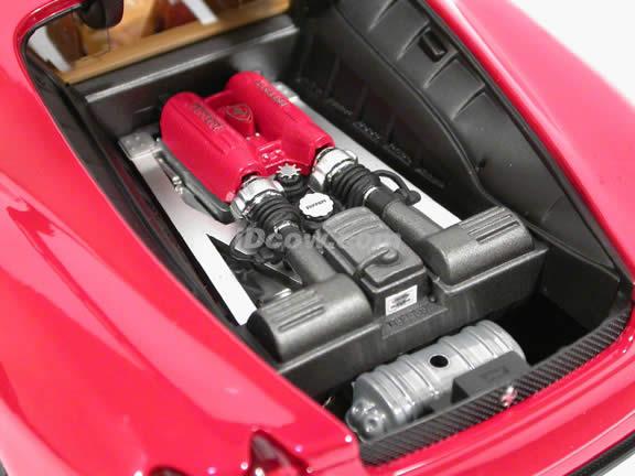 2009 Ferrari F430 diecast model car 1:18 scale die cast by Hot Wheels Elite - Red Elite N2050