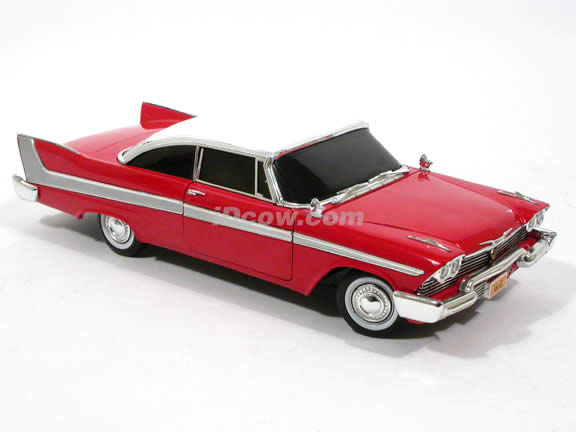 1958 Plymouth Fury diecast model car 1:18 scale