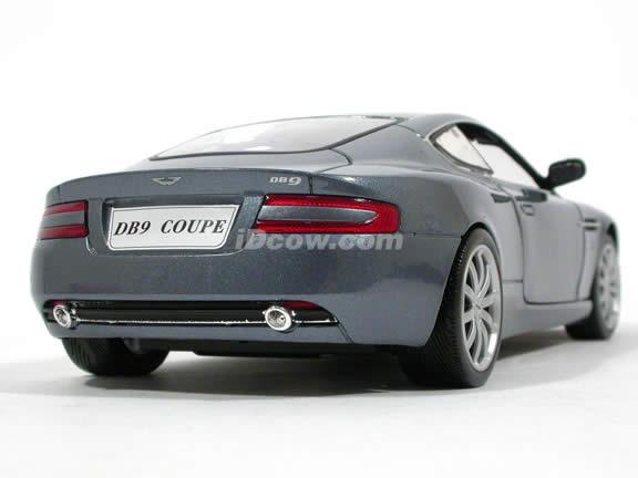 2004 Aston Martin DB9 diecast model car 1:18 scale die cast from Motor Max - Metallic Blue Grey 73174