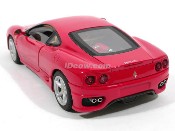 2002 Ferrari 360 Modena diecast model car 1:18 die cast by Hot Wheels Elite - Red Elite N2051