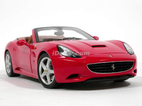 2009 Ferrari California diecast model car 1:18 die cast by Hot Wheels Elite - Red Elite
