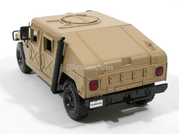 1991 Hummer Military Humvee diecast model car 1:18 scale die cast by Maisto - Sand 36874