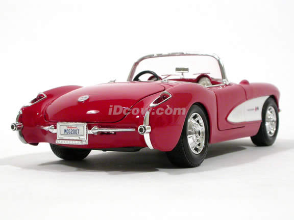 1957 Chevrolet Corvette diecast model car 1:18 scale die cast by Maisto - Red