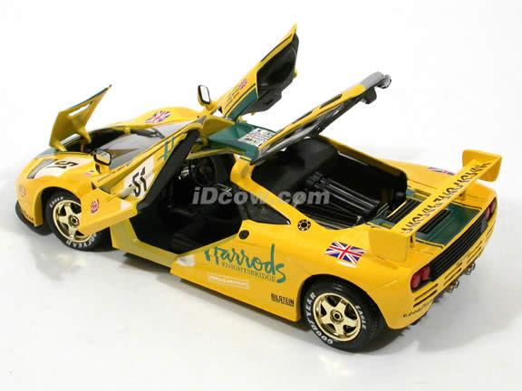 1995 McLaren F1 GTR diecast model car 1:18 scale Harrods #51 by Guiloy - 67502
