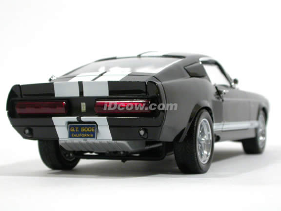 1967 Ford Mustang Shelby GT500E Eleanor diecast model car 1:18 scale die cast by Shelby Collectibles - Black
