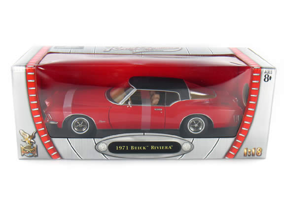 1971 Buick Riviera diecast model car 1:18 scale die cast by Yat Ming - Red 92558
